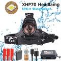 40000LM XHP70 Led Koplamp Super Heldere Koplamp 3 Modi Zaklamp 18650 USB Opladen Hoofd Lamp Torch Jacht Fietsen Koplampen