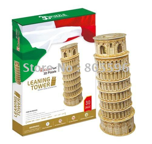 Educational Building toy,3D DIY Models,Home Adornment, Puzzle Toy,Paper model,Papercraft,LEANING TOWER series s 3d puzzle paper diy papercraft double decker bus eiffel tower titanic tower bridge empire state building