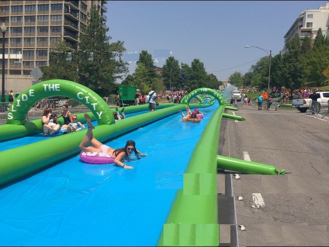 city water slide  large outdoor inflatable recreation 15 M long playing in summer water park relieve summer heat slide the city 2017 new hot sale inflatable water slide for children business rental and water park