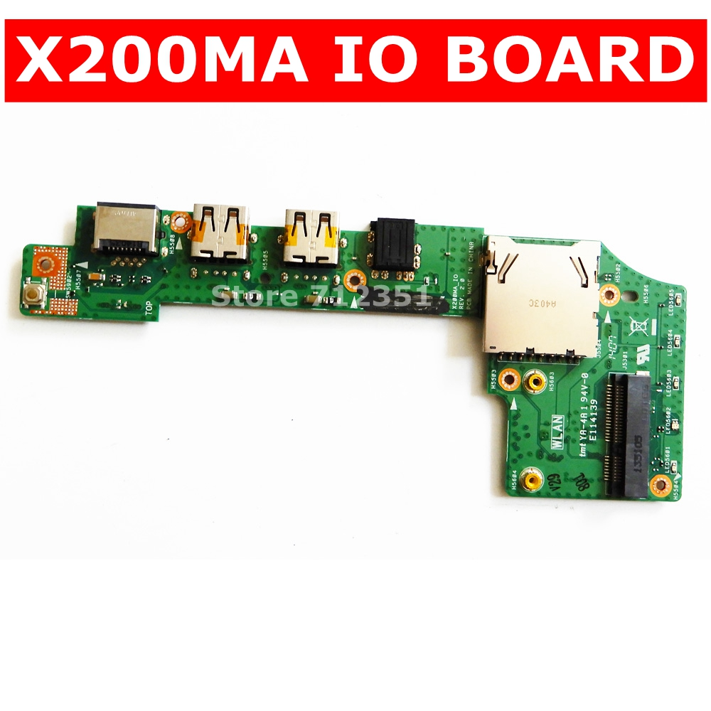 X200MA FOR <font><b>ASUS</b></font> X200 X200C <font><b>X200CA</b></font> X200M X200MA IO BOARD USB SD Card Reader Audio Board IO_BOARD 60NB04U0-101020 image