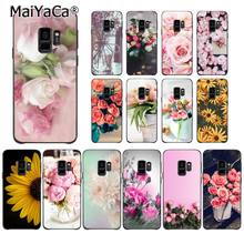 MaiYaCa Elegante Pfingstrose Rose Sunflower Blumen Telefon Fall für Samsung Galaxy S7edge S6 S10 Lite S10Plus S10E S8 S7 S9 plus(China)