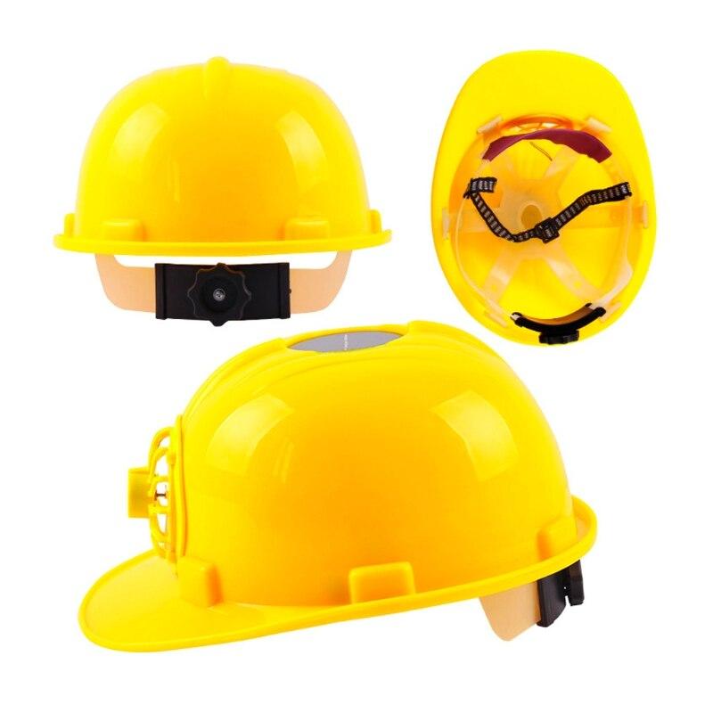 Schutzhelm Gelb Solar Powered Lüfter Schutzhelm Hart Arbeiten Hut Kappe Kopf Schützen Waren Jeder Beschreibung Sind VerfüGbar