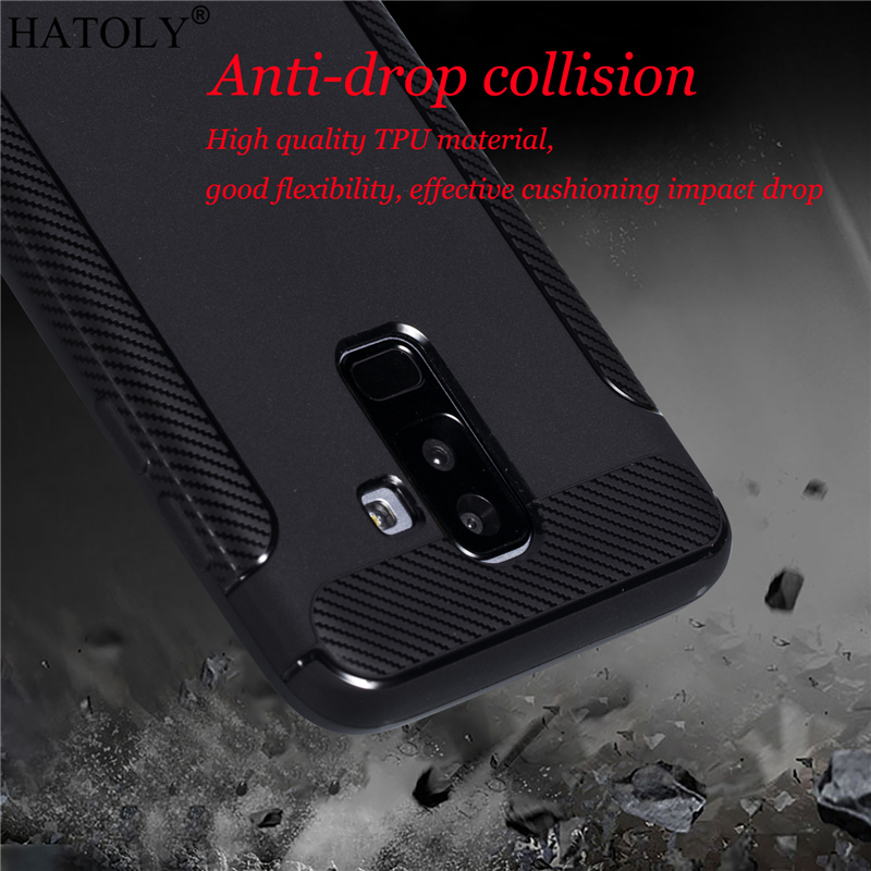 For Samsung Galaxy J8 Case Cover For Samsung Galaxy J8 2018 Rubber Silicon Armor Shell Soft Case For Samsung J8 J810F/DS J810Y