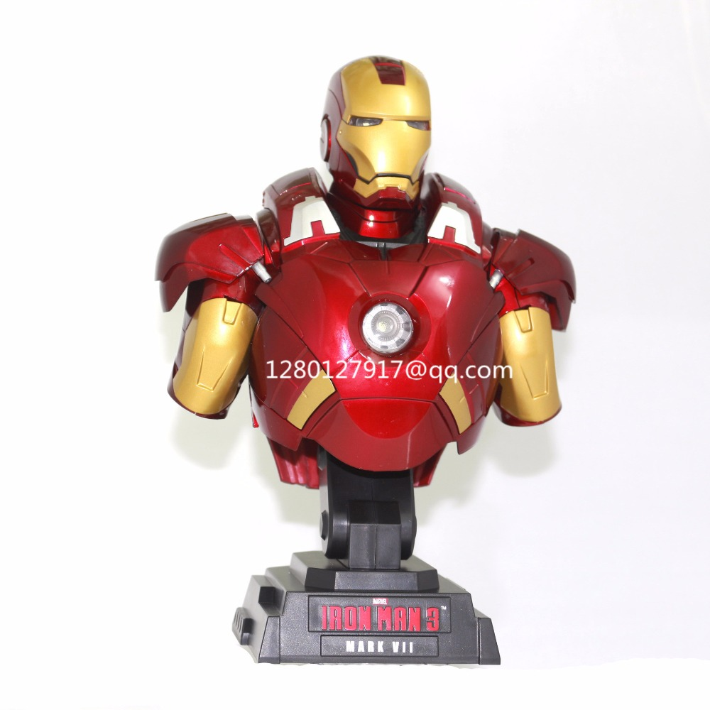 Avengers Infinity War Superhero Iron Man Wearable Helmet 1:1 With Led Light With Sound Action Figure Collectible Model Toy J339 Action & Toy Figures