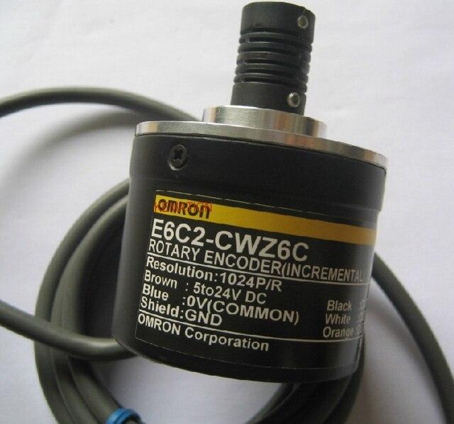 OMR E6C2 CWZ6C 360 P/R Codificador Rotativo Novo 5 24 V DC Saída de Coletor Aberto NPN 50mm diâmetro 360 Resolução E6C2CWZ6C