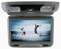 9inch flip down roof monitor with DVD/USB/SD/IR/FM/wireless game 180 degree ratatable screen built in speakers