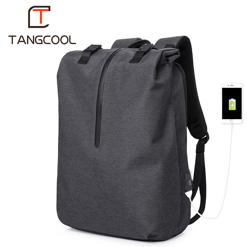 Tangcool Brand Fashion Korena Design Men Computer Backpacks Travel School  Backpack For 15.6
