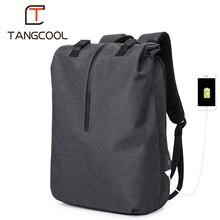 """Tangcool ยี่ห้อแฟชั่น Korena ออกแบบกระเป๋าเป้สะพายหลังคอมพิวเตอร์กระเป๋าเป้สะพายหลังสำหรับ 15.6 """"แล็ปท็อปกระเป๋าเป้สะพายหลังชายกระเป๋าเดินทางกระเป๋า"""