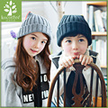2016 New Winter Children Knitted Hat Cap Warmmer Girls Boys Candy Color Beanies Thick Wool Hats Solid Cute Ball Baby Kids Bonnet