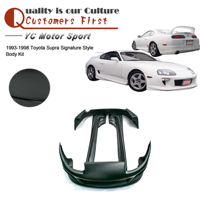 Car Accessories FRP Fiber Glass Signatu Style Body Kit Fit For 1993 1998 Supra Front Bumper Side Skirts Rear Bumper Body Kit