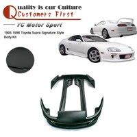 Car Accessories FRP Fiber Glass Signatu Style Body Kit Fit For 1993 1998 Supra Front Bumper Side Skirts Rear Bumper Body Kit