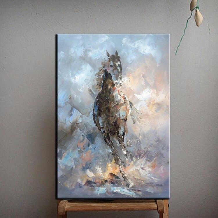 cuchillo caballo pintura al leo sobre lienzo artista cuchillo caballo pintura para decoracin de la