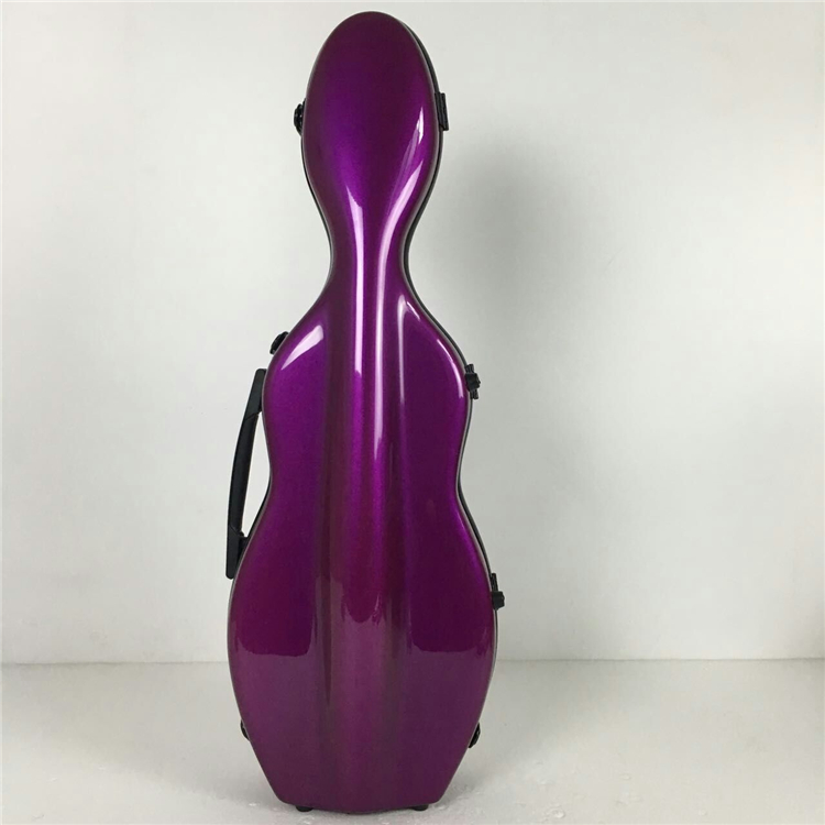 Violin case. Violet glass fiber 4/4 violin case. A variety of colors can be customized #04 Violet new glass fiber 4 4 violin case light strong 122 pink color