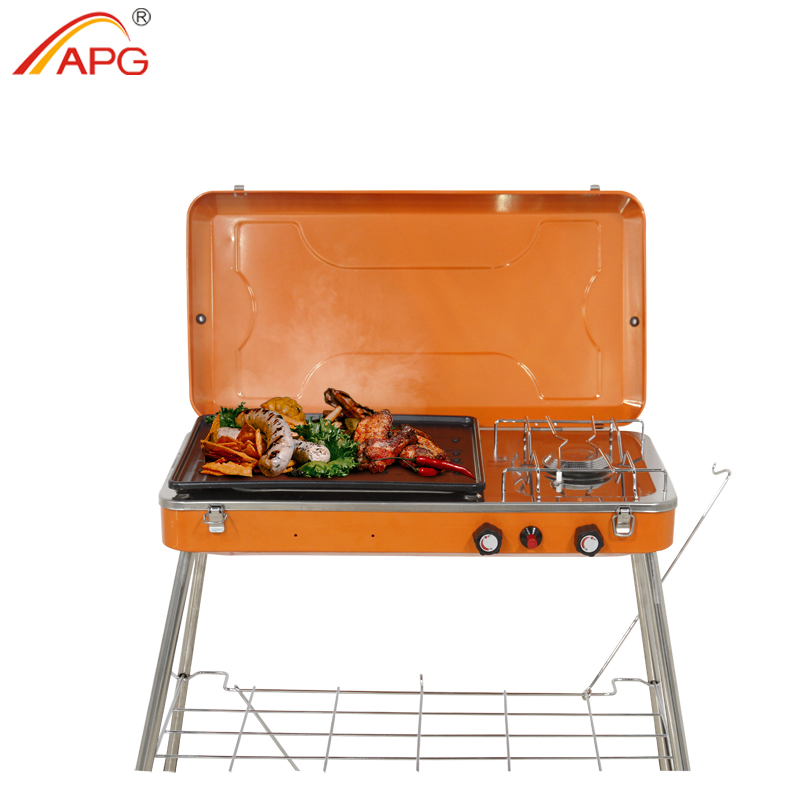 APG Barbecue Portable Barbecue Barbecue extérieur jardin Propane gaz brûleurs four Camping outils de cuisson