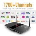 Europa Cuenta IPTV Android Tv Box Envío Árabe Ruso Francés REINO UNIDO EX-YU IPTV Canales de Suscripción Sky Sport Canal caliente Media caja