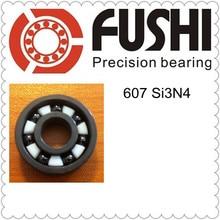 607 Полный керамический подшипник (1 предмет) 7*19*6 мм Si3N4 Материал 607CE все нитрида кремния керамические шарикоподшипники