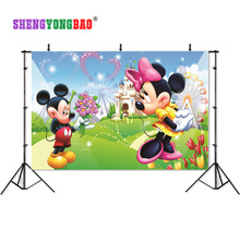 SHENGYONGBAO Art Cloth Digital Printed Photography Backdrops Prop Cartoon Happy birthday theme  Photo Studio Background SS-00020