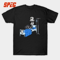 Funny T Shirts Hospitalised Downhill Bike MTB Mountain Bike Teenage Slim Fit Short Sleeve T Shirts