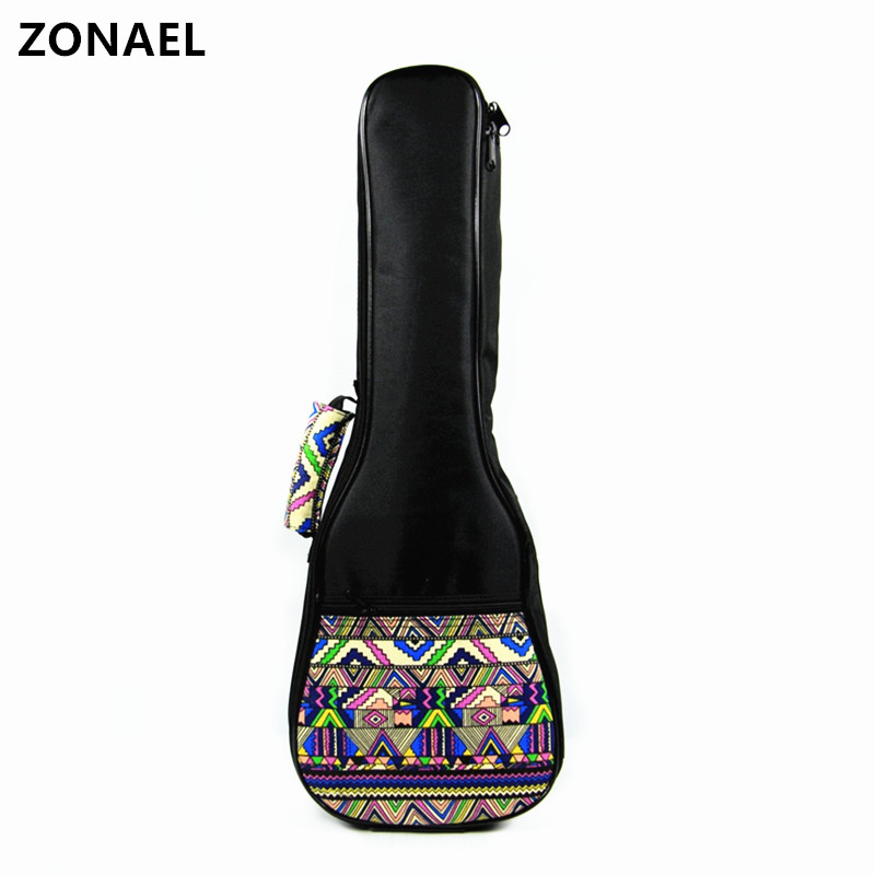 ZONAEL 21 23 24 26 Inch Ukelele Waterproof Bag Ukulele Gig Case Bag Oxford Backpack Adju ...