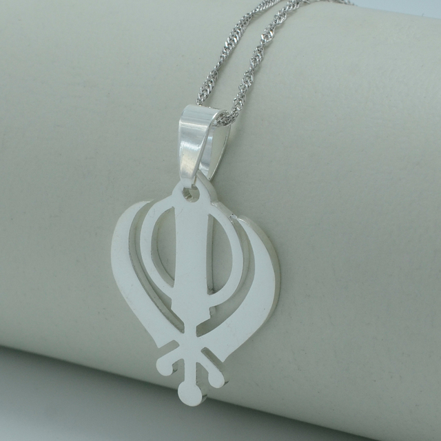 Anniyo sikhism necklace pendant sikh jewelry silver color sikhs anniyo sikhism necklace pendant sikh jewelry silver color sikhs charm necklace india pakistan malaysia religious medals aloadofball Images