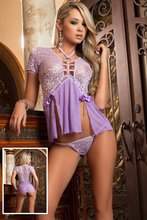 See-Through Fancy Underwear Hollow Sex Adult Porno Ladies Lingerie Lace Sex Adult Porno Lingerie Lavender Embroidery Underwear