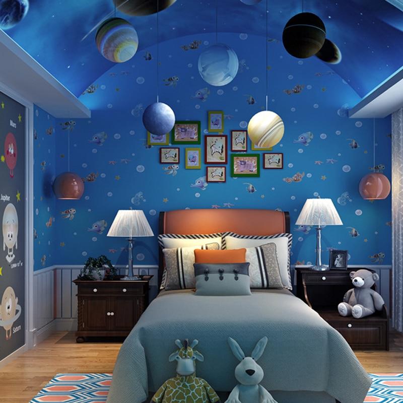 mundo del mar de dibujos animados para nios sala de pared papel papel pintado para la