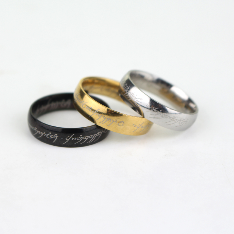 4 style new sale flash batman superhero superman and lotr stainless steel ring size 7 - Lotr Wedding Ring