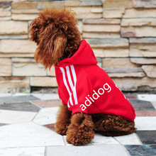 2017 Small Dog Clothes Coat Hoodies Clothing For Dog Spring Warm Hoodie Apparel Sportswear perros mascotas Adidog(China)