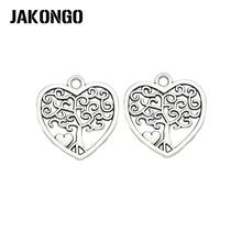 Подвески jakongo в виде сердца с покрытием под античное серебро