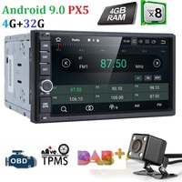 Ossuret автомобильный мультимедийный плеер gps Android 9,0 2 Din стерео система Радио для Ford/Focus/Mondeo/Kuga Восьмиядерный Wi Fi микрофон DVR