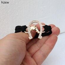 Женский браслет с лошадью hzew подковообразный кристаллами рождественский