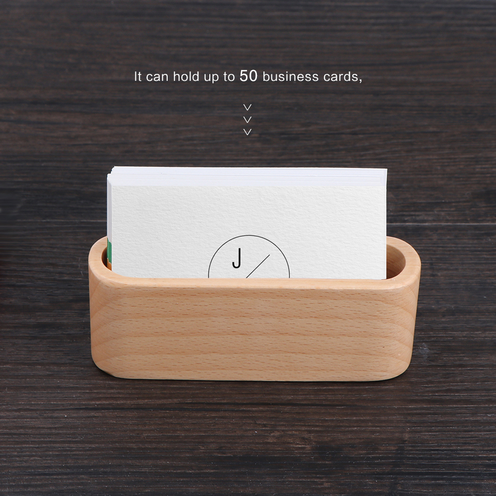 1Pcs Wood Business Card Holder Single Compartment Name Card Display ...
