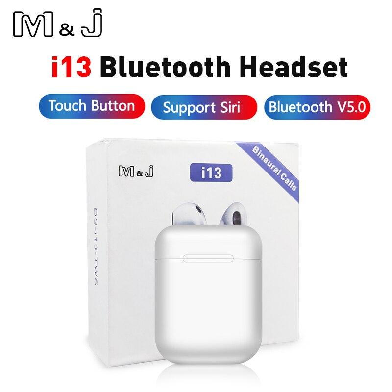 Original I13 TWS Wireless Bluetooth 5.0 Earphones 3D Surround Sound Earbuds Pk I30 I12 Tws I20 Tws I60 I10 Tws Lk Te9 Te8