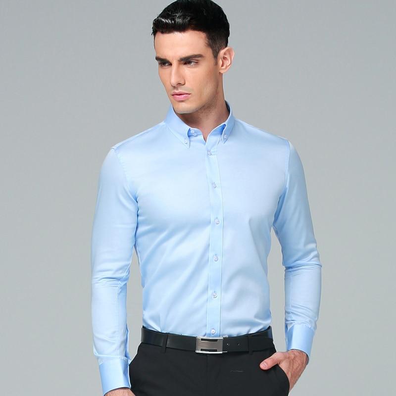 Herrenhemd 2019 Brandneu Frühling Langarm Business Anzüge Hemden - Herrenbekleidung