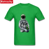 Unique Guy Cacti Plant Tees Stretch Slim Fit Short Sleeves Round Neck Preshrunk Cotton Robot Printed