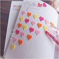 2pcs/set New Creative 3D Heart Style Quality Pink Sticker/DIY Photo Label Stickers /Lovely School Office Stationery