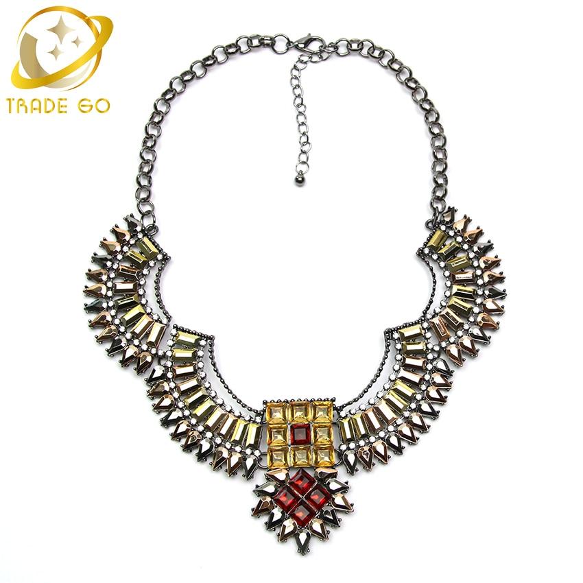 2a04151c734d Chunky collar llamativo 2015 nueva llegada mujer exagerada de la moda collar  entusiasmo llama energía Collares y colgantes