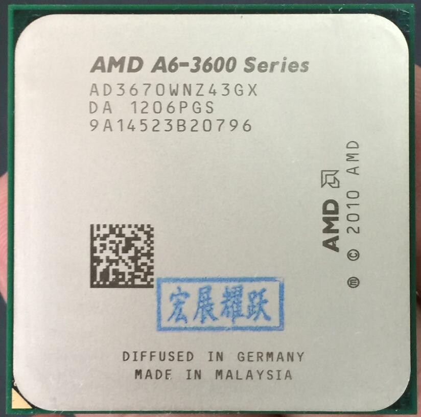 AMD A4-Series A6-3670 A6 3670 Quad-Core CPU 100% working properly Desktop Processor 100% working properly Desktop Processor