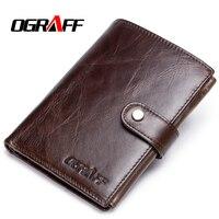 OGRAFF Genuine Leather Wallet Clutch Male Wallets Business Card Holder Coin Purse Mens Luxury Wallet Men