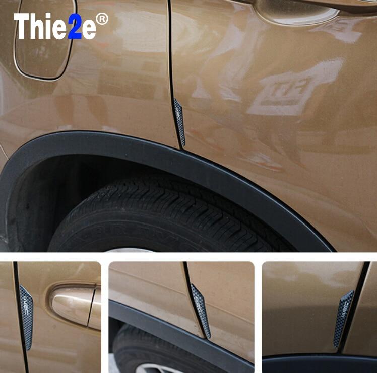 Loyaal Auto Sticker Deur Protector Edge Guards Stickers Voor Auto Koolstofvezel Voor Peugeot 206 207 208 307 307 S 308 3008 406 Accessoires Op Reis