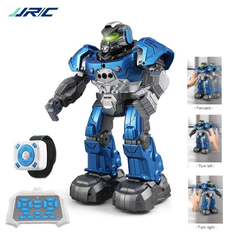 Jjrc r5 robô inteligente programável dança de música automática rc robô para crianças relógio inteligente seguir gesto sensor rc brinquedos robo