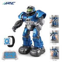 JJRC R5 Robot inteligente programable Auto música baile Robot RC para niños reloj inteligente seguir Sensor de gestos RC juguetes Robo