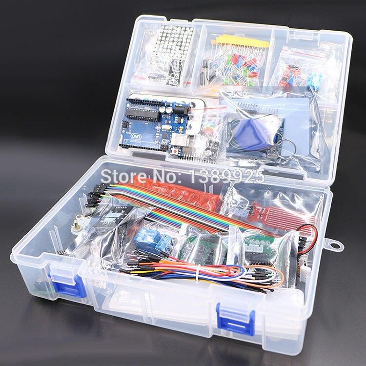 Avec boîte de vente au détail Kit de démarrage RFID pour Arduino UNO R3 version améliorée Suite d'apprentissage en gros livraison gratuite 1 ensemble