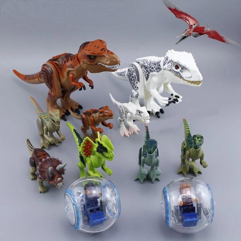Jurassic World 2 Dinosaur Park Velociraptor Pterosauria Blue Rex Pterosauria Triceratops Raptor Building Blocks With Legoing
