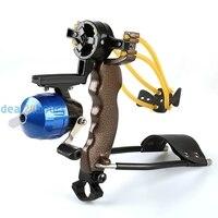 New High Velocity Hunting Fishing Slingbow Wrist Slingshot Arrow Rest Catapult Free Shipping