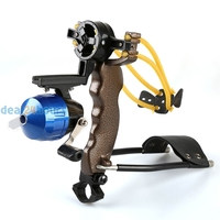 New High Velocity Hunting Fishing Slingbow Wrist Slingshot Arrow Rest Catapult Free Shipping