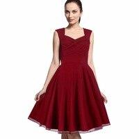 Vintage Rockabilly Dress Party Prom Elegant Summer Dress Sleeveless Women Celebrity Bandage Vestidos Club Formal Ball
