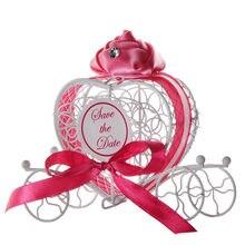 1pc novas caixas de doces transporte romântico doces caixa de chocolate festa de casamento favores jun23 profissional preço de fábrica transporte da gota