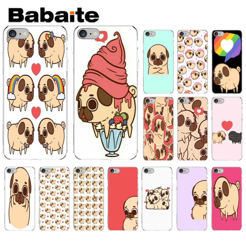 Babaite Cute Corgi Puglie Pug Diy Printing Drawing Phone Case Shell For Iphone 8 7 6 6s Plus X Xs Max 5 5s Se Xr Mobile Cases Chills And Pains