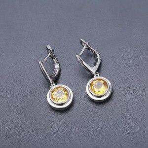 Image 5 - Gems ballet natural citrino clássico conjunto de jóias 925 brincos de prata esterlina anel conjunto para presente de casamento feminino jóias finas novo